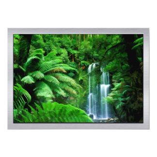 Rainforest & Waterfalls 13 Cm X 18 Cm Invitation Card