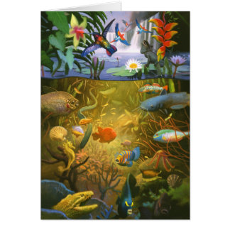Rainforest  Wildlife Greeting Card