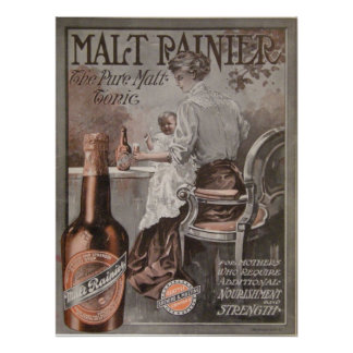 Rainier Beer ad (1909) Mother Advertisment Poster