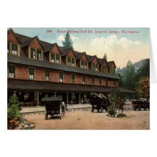 Rainier National Park Inn, Longmire, Vintage View Note Card