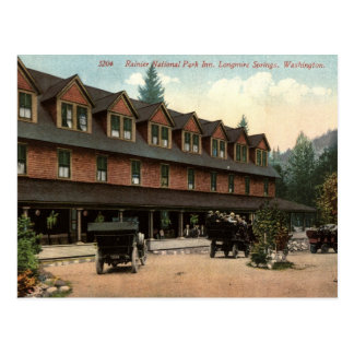 Rainier National Park Inn, Longmire, Vintage View Postcard