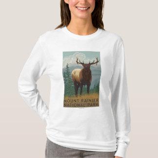 Rainier National Park, WashingtonElk Scene T-Shirt