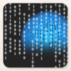 Raining Binary Square Paper Coaster
