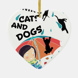 Raining Cats And Dogs Christmas Ornament