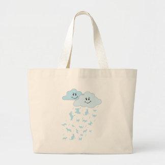 raining cats dogs bags