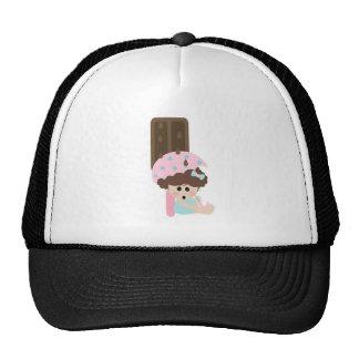 raining chocolate ice cream sweet tooth girl trucker hat