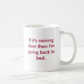 Raining Deer Basic White Mug