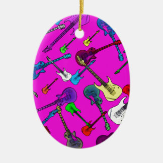Raining Guitars Christmas Ornament