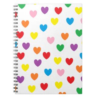 """Raining Hearts"" Notebook"