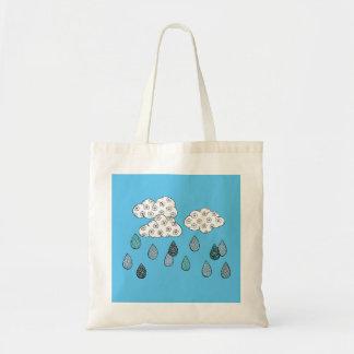 Raining patterns tote bag