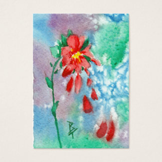 Raining Petals Art Card