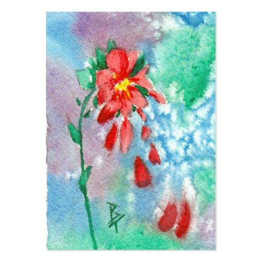 Raining Petals Art Card Business Card Templates