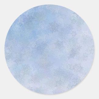 Raining Snowflakes Classic Round Sticker