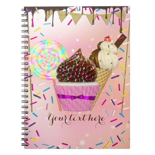 Raining Sprinkles Candy Land Sweets Notebooks