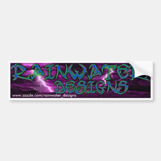 RAINWATER DESIGNS BUMPER STICKER