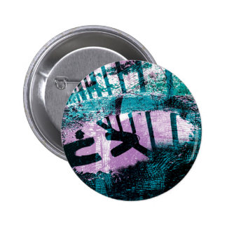 Rainwater puddle on a small Dustbin lid 6 Cm Round Badge