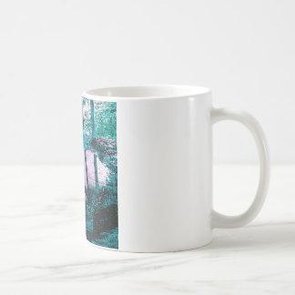 Rainwater puddle on a small Dustbin lid Coffee Mug