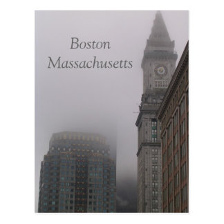 rainy Boston Massachusetts Postcard