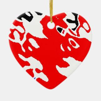RAINY BRITAIN CERAMIC HEART DECORATION