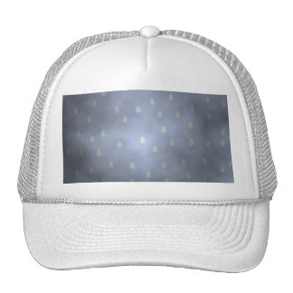 Rainy cloudy stormy sky Gray and Blue Trucker Hat