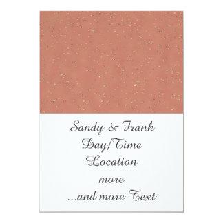 rainy day 14216 peach (I) 13 Cm X 18 Cm Invitation Card