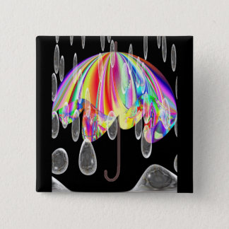 Rainy Day At The Zoo 15 Cm Square Badge
