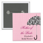Rainy Day Bridal Shower Button
