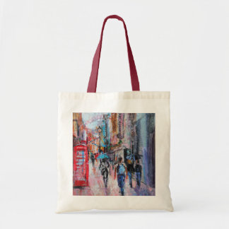 Rainy Day Carnaby Street Tote Bag
