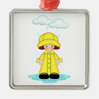 Rainy Day Christmas Ornament