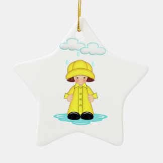 Rainy Day Christmas Ornament
