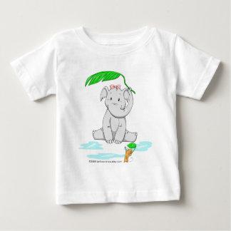 Rainy Day Elephant Baby T-Shirt