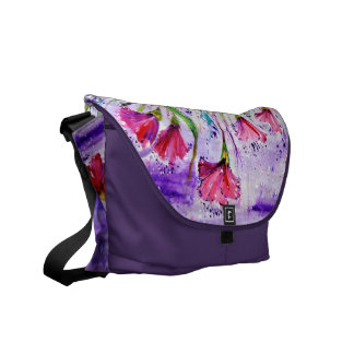Rainy Day Flowers Commuter Bag