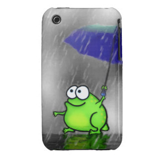 Rainy Day Frog Case-Mate iPhone 3 Cases