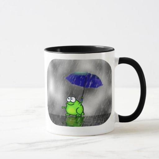 Rainy Day Frog Mug