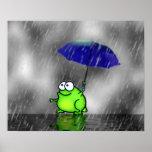 Rainy Day Frog Print