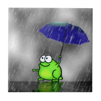 Rainy Day Frog Tile