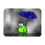 Rainy Day Frog Vinyl Magnets