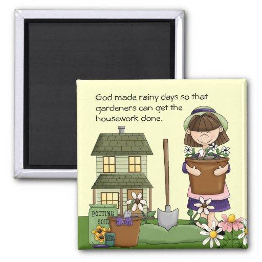 Rainy Day Gardener magnet