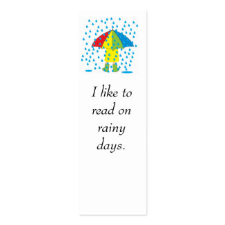 rainy day, I like to read on rainy days. Pack Of Skinny Business Cards