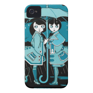 Rainy Day in Blue iPhone 4 Cover