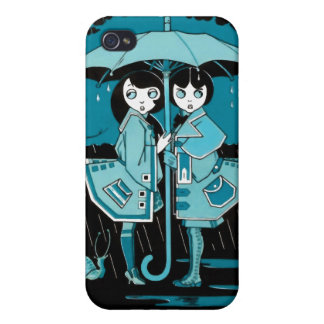 Rainy Day in Blue iPhone 4/4S Case