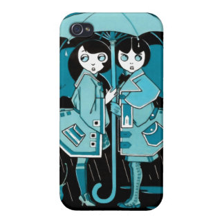 Rainy Day in Blue iPhone 4/4S Cover