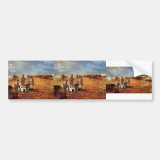 Rainy Day in Camp by Winslow Homer Bumper Stickers