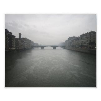 Rainy Day in Florence, Italy Art Photo