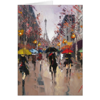 Rainy Day in Paris Card
