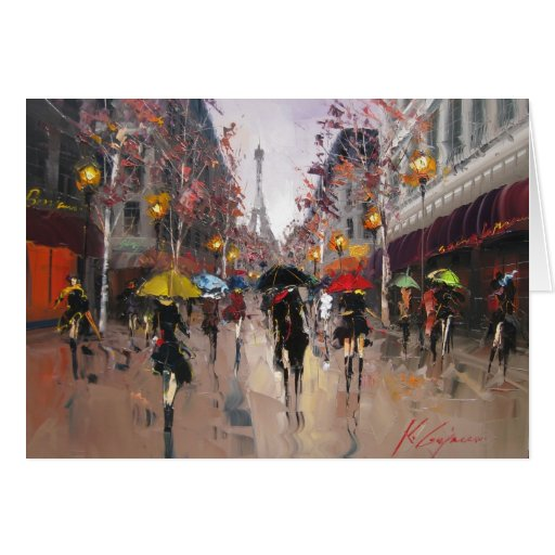 Rainy Day in Paris Greeting Card