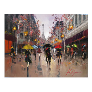 Rainy Day in Paris Postcard