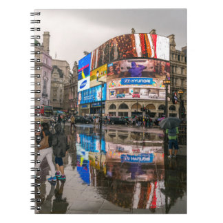 Rainy day in Piccadilly Circus notebook