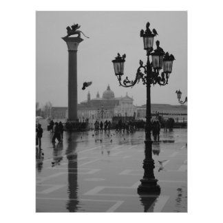 Rainy day in Venice Poster