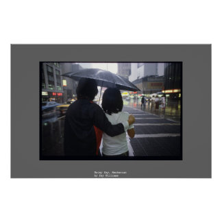 Rainy Day, Manhattan Poster